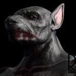 3D Scupt of Digital Werewolf